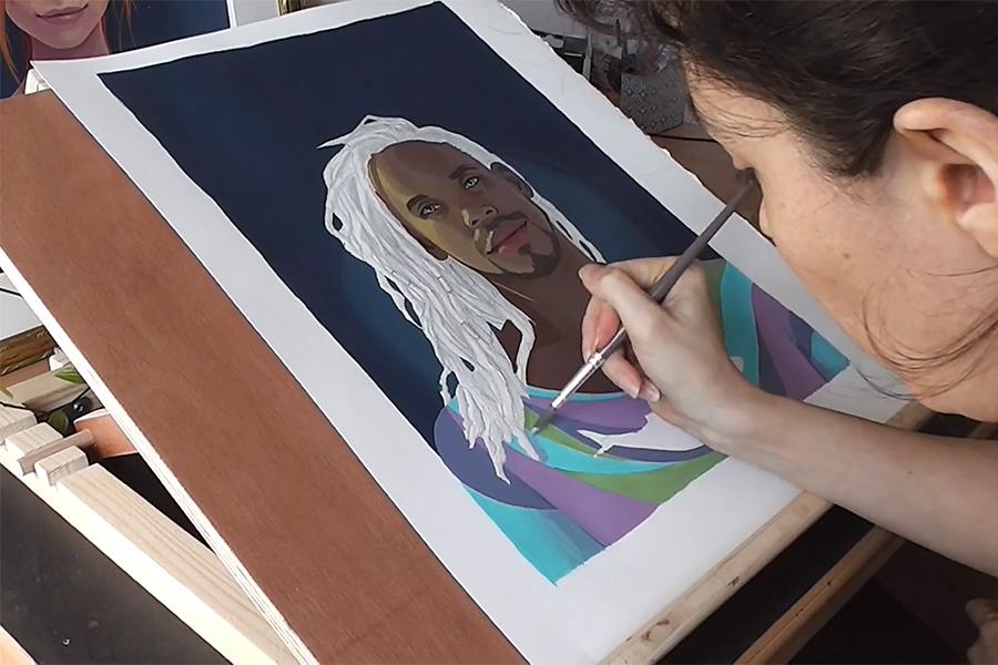 Découvrez mon processus de peinture