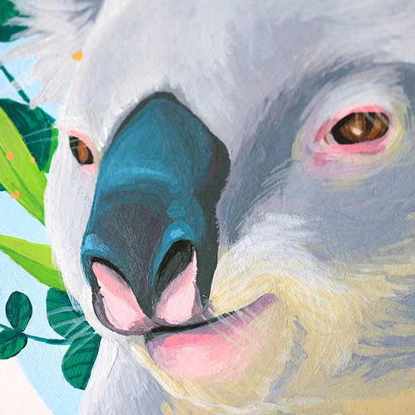 Peinture totem sur mesure. Par Green Mama Art - Maëlle Delavaud - Nantes